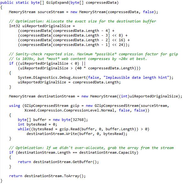 Tuning MemoryStream   text/plain