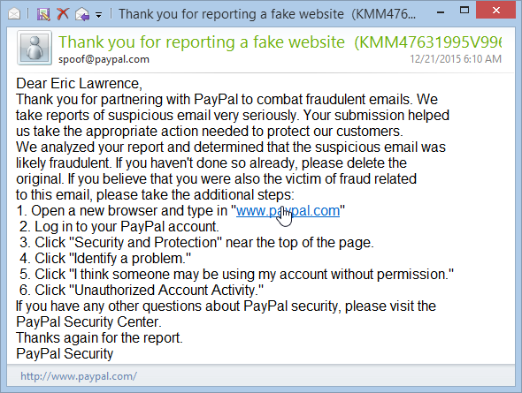 HTTP link to paypal in email