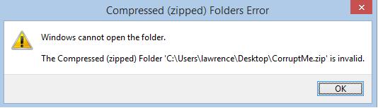 Windows Cannot Open dialog