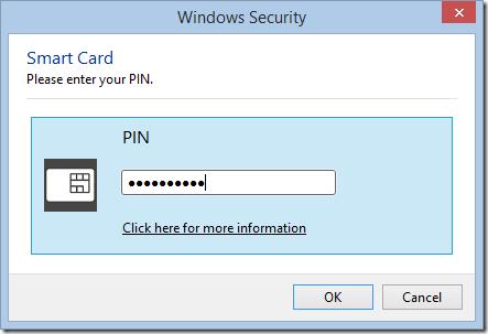 Windows PIN prompt