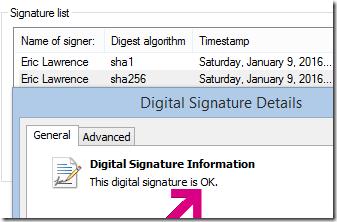 Signature OK