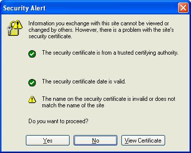 Certificate errors UX