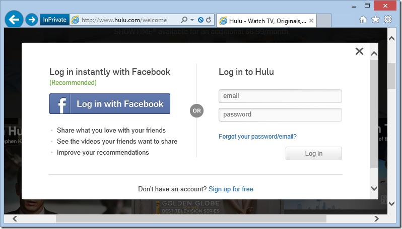 Hulu Insecure Login