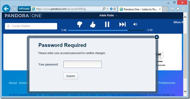 Password prompt on HTTP page