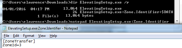 Zone.Identifier Stream shown in Notepad