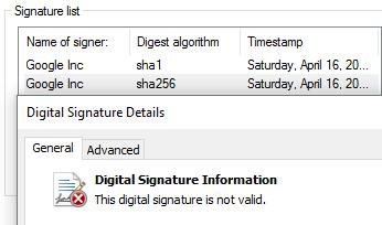 Signature Invalid