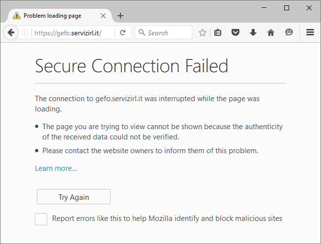 Firefox 45 error