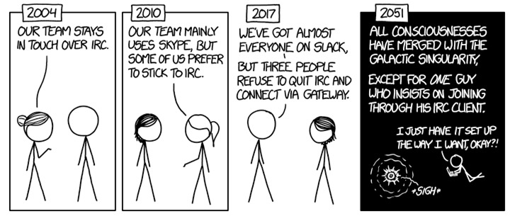 XKCD comic on IRC